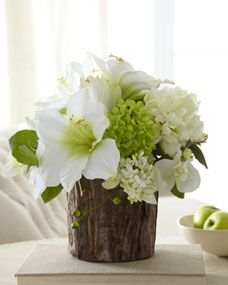 The Post A Unique Tree Bark Vase Perfectly Complements Beautiful Arrangement Of Faux Fl