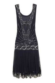 GREAT GATSBY SEQUIN CHARLESTON FLAPPER Dress        Have one to sell? Sell it yourself NAVY SEQUIN CHARLESTON FLAPPER