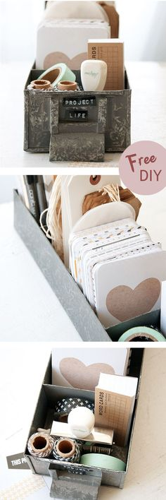 Organize your favorite artsy essentials in one adorable spot.