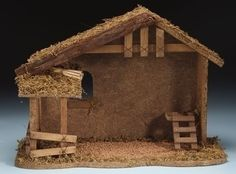 Fontanini 5 Wooden Christmas Nativity Stable 54628 -- Details can be found by clicking on the image. (This is an affiliate link) Christmas Manger, Christmas Porch, Rustic Christmas, Christmas Decor, Christmas Ideas, Christmas Holiday, Christmas Stockings, Nativity Scene For Sale, Nativity Stable