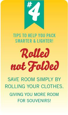 #PinUpLive Packing Tip No. 4 - Rolled not Folded