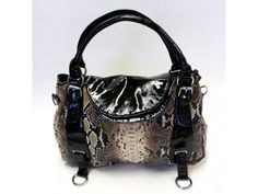 Faux Leather Animal Print Handbag