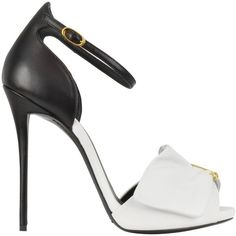 Giuseppe Zanotti Black and White Pin Sandal (3.140 BRL) ❤ liked on Polyvore featuring shoes, sandals, heels, stiletto sandals, giuseppe zanotti shoes, heeled sandals, open toe platform sandals and platform sandals