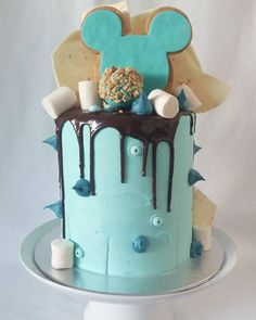 Blue drip cake blue velvet and some other delicious treats for Tracy…