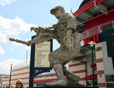 Sculpture commemorating Senator star outfielder/1B Frank Howard at Nationals Park.