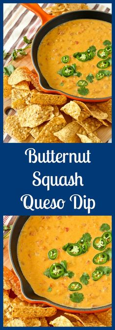 This healthy queso dip is about as healthy as you'll get when it comes to a decadent, cheesy dip. You'll love the subtle sweetness and vibrant color that the butternut squash adds. This one is a must-try! From @RachelCooksBlog