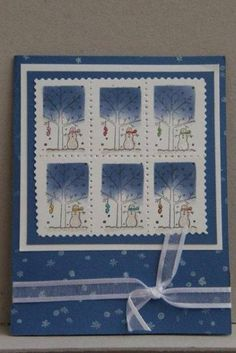 So many stamps using Stampin Up A Tree for All Seasons retired stamp set