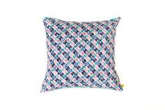 Handmade Diamond Blues Cushion