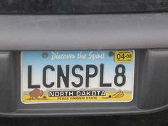 And this license plate: