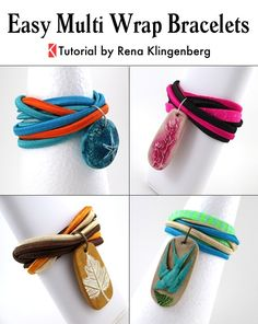 01cf08e7ed00b Easy Multi Wrap Bracelet - Tutorial by Rena Klingenberg Diy Jewelry  Projects