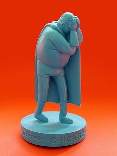 Chris Ware Chicago Comics plastic figurine (2002), photo by j_pidgeon, via Flickr