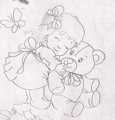 pintura de fralda letra de urso - Pesquisa Google