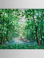 Oil Painting Landscape Walking Along a Wooded P... – AUD $ 70.21
