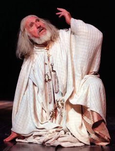 1999 - Nigel Hawthorne as 'King Lear' in the RSC production at the Barbican