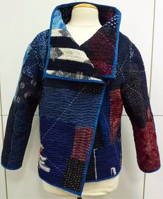 """""""It's a Marcy Tilton pattern, Vogue 8430. It is my Japanese boro inspired jacket.  The fabric(s) are vintage Japanese kimono I've been collec..."""""""