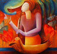 Beenu Gupta Indian Contemporary Art, Triptych Art, Indian Paintings, Indian Art, Painting & Drawing, Folk Art, Abstract Art, Drawings, Artwork