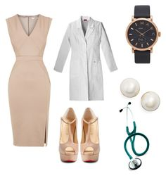 Professional Doctor Attire on Polyvore featuring Oasis, Christian Louboutin, Marc Jacobs and Kate Spade
