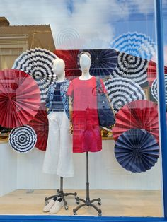 Creative Windows, inspired by nautical parasols Window Displays, Nautical, Career, Windows, Inspired, Creative, Crafts, Inspiration, Display Cases