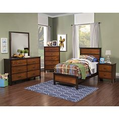 Brunswick Modern Youth 5 Piece Full Bed, Nightstand, Dresser & Mirror, Chest in 2 Tone Copper with Chestnut Trim The distinctive two tone finish highlights the simple yet sophisticated lines of the Brunswickbedroom. Ample drawer storage, felt lined top drawers and low distortion, beveled... more details available at https://furniture.bestselleroutlets.com/children-furniture/bedroom-sets-children-furniture/product-review-for-brunswick-modern-youth-5-piece-full-bed-nightsta