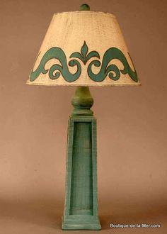 cottage table lamp | The Beach | Pinterest | Cottage style decor