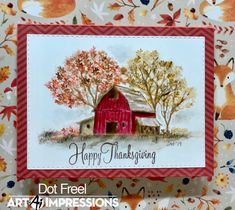 Creations by Dot J. Art Impressions Stamps, Thanksgiving Cards, Watercolor Design, Fall Cards, I Card, Card Making, Greeting Cards, Dots, Photo And Video
