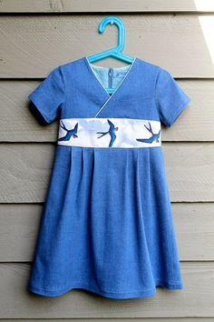 Oliver and S Library Dress with hand-painted waistband