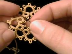 Frivolite-Tatting Lesson 18 - Cuentas en el hilo del ovillo - Beads on ball thread - YouTube