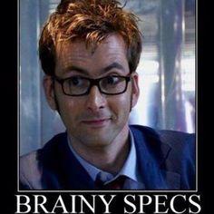 Love his brainy specs!