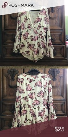 Flower Jumper Very cute jumper for the spring and summer . You can wear it with cute sandals or ankle boots. Only worn once . Basically brand new . Size is Large Other