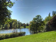Parc de la Greffière à Fleury-Mérogis - Lac, berges et arbres