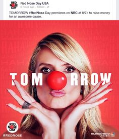 #rednoseday  Join the event to help lift children out of poverty.  www.nbc.com/Red-Nose-Day www.walgreens.com/RedNoseDay