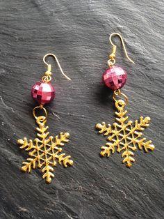 Boucles d'oreille les petits plaisirs de Noël flocon : Boucles d'oreille par lesbijouxdelareine