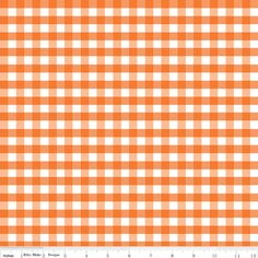 Riley Blake Designs - Gingham - Medium Gingham in Orange - accent for the birdie and teal polka dots