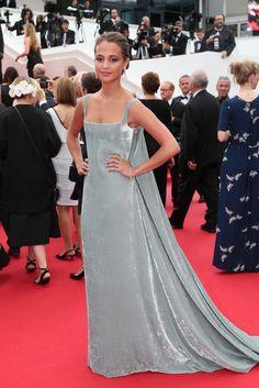 ALICIA VIKANDER IN VALENTINO COUTURE Attending the 68th annual Cannes Film Festival, May 23.