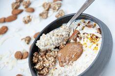 Muesli, Granola, Pain Au Levain, Oatmeal, Breakfast, Food, Gluten Free Oatmeal, Fermented Foods, Almond Milk