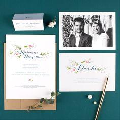 Elegante Hochzeitspapeterie von Rosemood | Hochzeitsblog The Little Wedding Corner