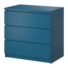 "MALM 3 drawer chest - turquoise, 31 5/8x30 3/4 "" - IKEA"