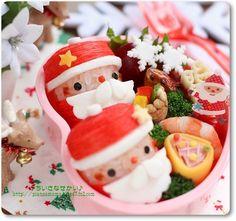 Santa onigiri bento