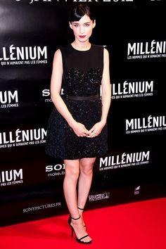 Rooney Mara en un vestido de Louis Vuitton.