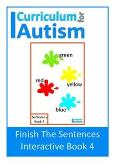 Colors Interactive Adapted Book for students with autism and special needs to practice finding the correct word to finish a sentence.Instructions on how to prepare this interactive book are included in the pdf. Please note-you will require velcro dotsMore Finish The Sentence Interactive Books coming soon!You might also like:Finish The Sentences Interactive Book- NounsFinish The Sentences Interactive Book- AdjectivesSentence Making Cards BUNDLEFor more Interactive Adapted Books CLICK HERE Be…