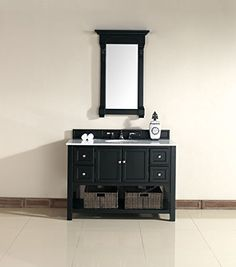 """James Martin Urban 48"""" Single Vanity in Antique Black with Marble Top James Martin Furniture http://www.amazon.com/dp/B00NVE34IW/ref=cm_sw_r_pi_dp_HBMbvb1XXCV3V"""