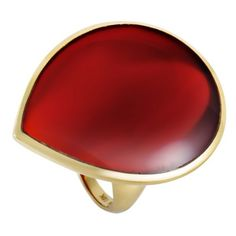 Pre-owned Ippolita Rock Candy 18K Yellow Gold Red Agate Teardrop Ring... ($1,050) ❤ liked on Polyvore featuring jewelry, rings, 18k yellow gold ring, agate rings, preowned rings, red jewellery and gold jewelry