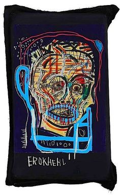 "Jean-Michel Basquiat (1960-1988) ""Made in Japan 1"" signed, titled and dated '1982 ""MADE IN JAPAN 1"". Jean-Michel Basquiat' (on the reverse) acrylic and oilstick on paper mounted on canvas 60½ x 38½ in. (153.6 x 97.7 cm.) Painted in 1982. This work is accompanied by a certificate of authenticity issued by the Authentication Committee of the Estate of Jean-Michel Basquiat. Auction at ""Christies"" 12 May 2014, New York, Rockefeller Center. Price realized USD 8,005,000."