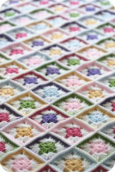 More granny squares. Look at the cool way the are joined.