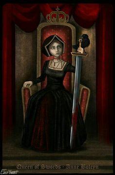 Anne Boleyn by Evelt Yanait. I am loving these modern interpretations of Anne Mary Boleyn, Anne Boleyn Tudors, Borgia Series, Musical Hamilton, Wives Of Henry Viii, Raven Queen, Wars Of The Roses, Elizabeth I, Queen Of England