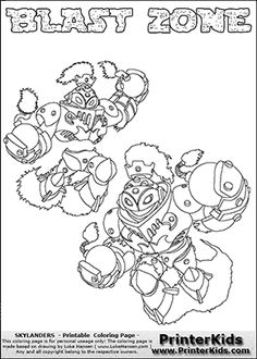 Skylanders Swap Force Coloring Page With The Villain