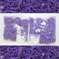 Purple Rainbow Loom Rubber Bands 1200 pcs