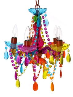 Let there be light    Deck the halls with wonderfully bright chandeliers that will cast pretty colours.    Small gypsy chandelier lamp, £49.99, The Contemporary Home (tch.net)