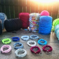 Colorfull tshirtyarn bracelets handmade