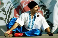 Image of Old Cossack in national ukrainian dress